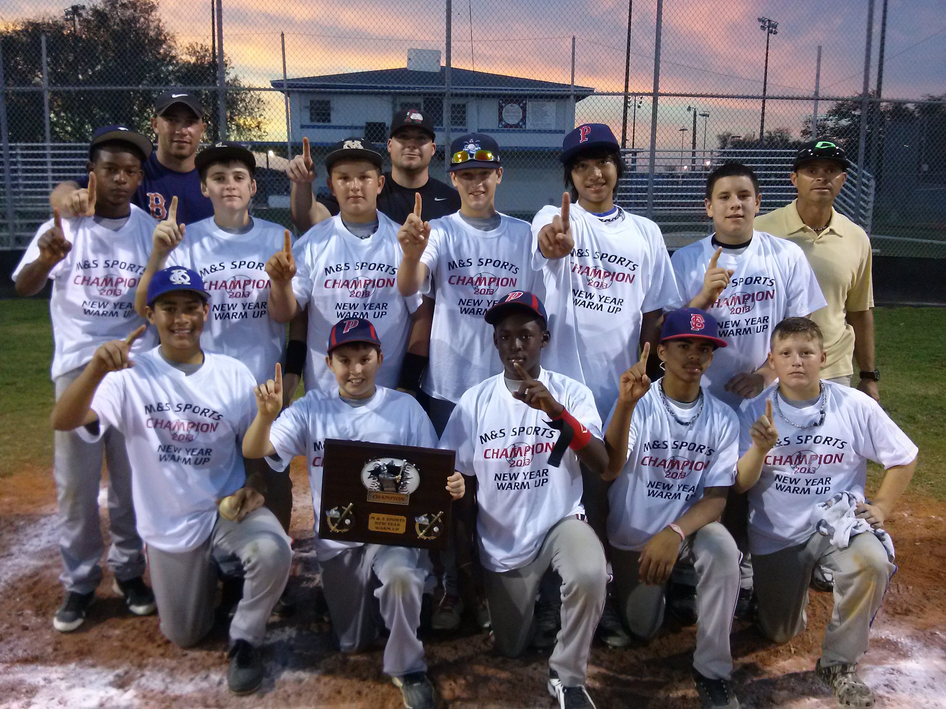 ... 14U's victory photo -GSA Spring Fling in Tampa, FL -January 23, 2013
